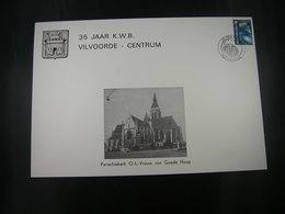 """BELG.1982 2037 FDC Philacard : """"  35 JAAR K.W.B VILVOORDE-CENTRUM """" - FDC"""