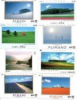 8 Télécartes Japon Japan Phonecard Fleur Flower Fleurs Paysage (D 523) - Paysages
