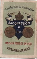 Carte Commerciale à 2 Volets/Champagne JACQUESSON & Fils/CHÂLON Sur MARNE/Pierry Prés Epernay/ Vers 1900-1920 CAC162 - Reclame