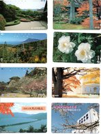 8 Télécartes Japon Japan Phonecard Paysage Arbre Tree Fleur Flower Fleurs (D 524) - Paysages