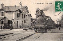 """S1994 Cpa 16 Saint Même Les Carrières - La Gare """" Train En Gros Plan"""" - France"""