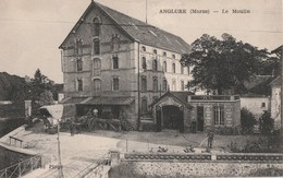 ANGLURE - TRES BEAU PLAN DU MOULIN - BELLE CARTE ANIMEE - ATTELAGES -  TOP !!! - Anglure