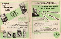 Vieux Papiers > Non Classés Truffaut Georges Calendrier Des Semis Et Dea Plantations - Vieux Papiers