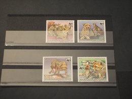 HAUTE VOLTA - 1984 WWF ANIMALI  4 VALORI - NUOVI(++) - Alto Volta (1958-1984)