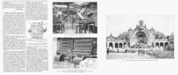 LES CASCADES Et FONTAINES LUMINEUSES   à L'EXPOSITION UNIVERSELLE De  1900 - Technical