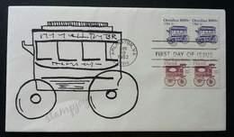 USA United States Classic Omnibus 1983 Car Transport Vehicle (stamp FDC) - Stati Uniti