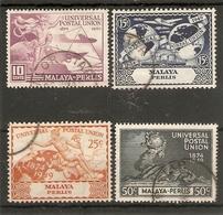 MALAYA - PERLIS 1949 UPU SET FINE USED Cat £16 - Perlis