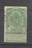 COB 56 Oblitération Centrale Bilingue DRONGEN - TRONCHIENNES - 1893-1907 Coat Of Arms