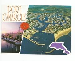 34  - Carte à Trou, PORT CAMARGUE     (dauphin) - Frankreich