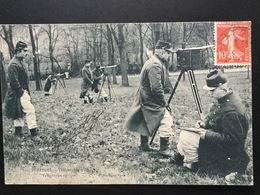 CPA Suresnes Télégraphie Militaire Télégraphe Optique - Guerre 1914-18