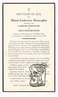 DP Maria L. Desaegher / Maelbrancke Malbrancke ° Boezinge Ieper 1888 † Langemark 1939 - Andachtsbilder