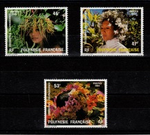 Polynesie - YV 219 à 221 N** Complete Couronnes De Fleurs - French Polynesia