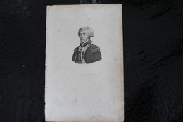 DH / « La Fayette », Né Le 6 Septembre 1757 Au Château De Chavaniac, Paroisse De Saint-Georges-d'Aurac  / 16x24 Cm - Documents Historiques