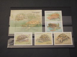 AZERBAYCAN - 1995 TARTARUGHE 5 VALORI + BF - NUOVI(++) - Azerbaijan