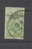 COB 56 Oblitération Centrale Grand Cachet Double Cercle Bilingue BRUXELLES - 1893-1907 Wapenschild