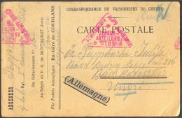 FRANCE - HUNGARY - PRISONNIERS DE GUERRE DE LA XI. REGION MONTMOROT JURA Gare De COURLANS - 1918 - DAR - WW1 (I Guerra Mundial)