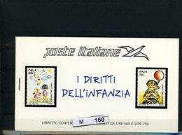 M160, Italien. Markenhefchen, 4 X 2186-87, 1991 - 6. 1946-.. Republik