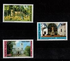 Polynesie - YV 243 à 244 N** Edifices Religieux Cote 8,35 Euros - French Polynesia
