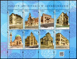 Poland 2019 Fi BLOK 332 Mi 5117-5124 Polish Architects In Azerbaijan - 1944-.... República