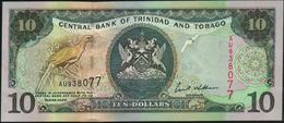 TRINIDAD & TOBAGO - 10 Dollars 2002 {sign. Ewart S.Williams} UNC P.43 - Trinidad En Tobago