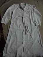 Ancienne Chemise De Nuit Enfant En Coton Blanc Monogramme AR - Children
