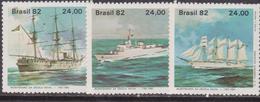 Brasile 1882 Navi Ships Set MNH - Brasile