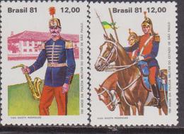 Brasile 1981 Uniform Divise Militari Set MNH - Brasile