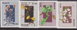 Brasile 1981 Flora Flowers Set MNH - Brasile