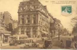 CPA - PARIS - THEATRE DE LA RENAISANCE ET BLD ST MARTIN (VOIR VEHICULES) 1913 - Autres Monuments, édifices