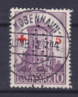 Denmark Perfin Perforé Lochung 'WW' (Fig04a) Københavns Kommune 1944 KØBENHAVN-VALBY Red Cross Rotes Kreuz Croix Rouge - Abarten Und Kuriositäten