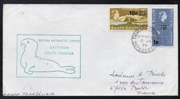SOUTH GEORGIA - FALKLAND - BRITISH ANTARCTIC / 1979 - LETTRE POUR LA FRANCE (ref LE3460) - Territoire Antarctique Britannique  (BAT)