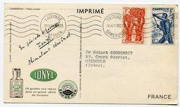 RC 12837 CAMEROUN 1953 CARTE IONYL PUBLICITÉ ADRESSÉE AUX MEDECINS - Cameroun (1915-1959)