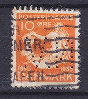 Denmark Perfin Perforé Lochung 'N.V.' (N52) Nationalbankens Valutakontor, København Mermaid Meeresfrau H. C. Andersen - Abarten Und Kuriositäten