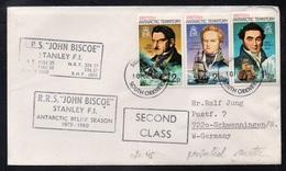 """BAT - BRITISH ANTARCTIC - RRS """"JOHN BISCOE"""" / 1979 - LETTRE POUR L'ALLEMAGNE (ref LE3461) - Territoire Antarctique Britannique  (BAT)"""