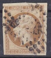 FRANCE :  Empire 10c Brun Clair  No 13 B - 1853-1860 Napoleone III