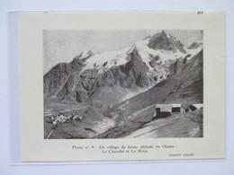 (1958) CHAZELET Et LA MEIJE En OISANS  -  Le Village -  Coupure De Presse Originale (encart Photo) - Documents Historiques