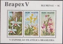 Brasile 1982 Flower Brasiliera Sheet Mnh - Brasile