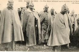 Guerre 14.18. CPA. Un état Major Allemand Après Son échec Sur La Marne.  1914. - War 1914-18