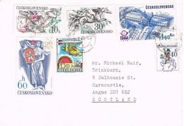 33045. Carta USTI Nad LABEM (Checoslovaquia)  1979 To Scotland - Checoslovaquia