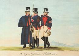 79487- POSTILIONS, 1820 UNIFORMS, ILLUSTRATION, FRANKFURT POST MUSEUM, POSTAL SERVICES - Postal Services