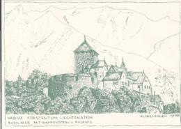 79509- VADUZ FORTRESS- ILLUSTRATION BY M. HALLMANN - Liechtenstein