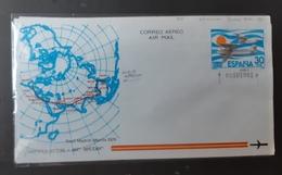 Aerograma(doble Impresión Color Azul - 1931-Hoy: 2ª República - ... Juan Carlos I