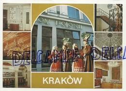 Pologne. Cracovie. Krakow. Carte Mosaïque. Hôtel Polonii. Costumes Folkloriques - Pologne