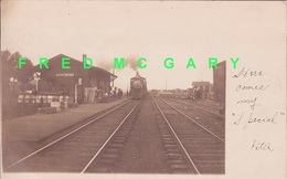 1907 South Dayton NY RPPC: Erie RR Train In Depot Featured Later In 2 Movies - Other