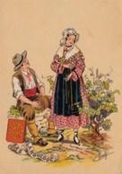 "Naudy Illustrateur  Bas Languedoc ""vendanges"" N°1187 L  TBE - Naudy"