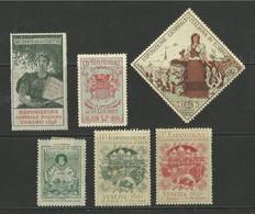 Lot De 6 Vignettes - Commemorative Labels