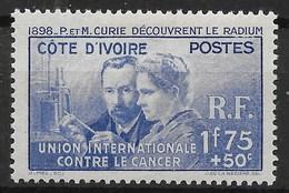 COTE D'IVOIRE PIERRE & MARIE CURIE N° 140 NEUF * GOMME AVEC TRACE DE CHARNIERE - Ivory Coast (1892-1944)