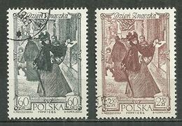 POLAND Oblitéré 1212-1213 Journée Du Timbre Le Moment Décisif De A. Kaminski - 1944-.... République