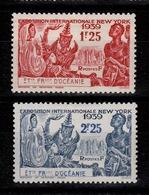 Oceanie - YV 128 & 129 N* Exposition Internationale De New York Cote 5,40 Euros - Neufs
