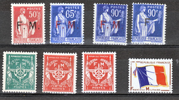 France Franchise Militaire  7/10,11,12,12a,13  Neuf **TB MNH Sin Charnela - Franchise Militaire (timbres)